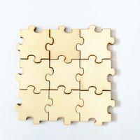 Incompiuta puzzle Laser Cut legno Pezzi unico bianco Endless Puzzle di legno bambini Jigsaw Puzzle Guest Book Arts and Crafts