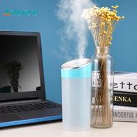 Mini humidificateur d'air par ultrasons pour voiture de bureau à domicile avec diffuseur d'huiles essentielles de lumière hydratante à LED