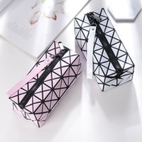 Diamond Women Cosmetic Bag Functional Geometric Lattice Trav...