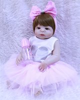 "22"" Full silicone reborn babies dolls bebe alive simula..."