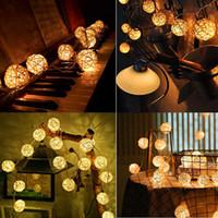 Globo de la bola de la rota cadena luces goodia 13.8feet 40 LED blanco cálido Lámparas Hada de vacaciones Dormitorio cubierta boda del partido del árbol de navidad