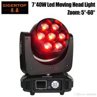 Gigertop TP-L740 320W 7 х 40W RGBW 4IN1 Led Moving Head Light Увеличить DMX512 управления Os-баран Оригинал 5-60 градусов Увеличить 12/17 Channel