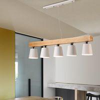 Disegno luci a sospensione nordico con tripla metallo paralume Lamparas Colgantes Moderno Legno Hanging Lamp E27 Lampada a sospensione