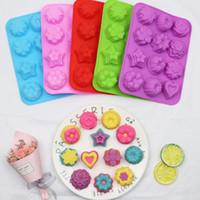 12 hohlraum verschiedene blume silikon backform schokolade zucker fondant fimo werkzeug kaugummi süßigkeiten paste backform DIY seifenwachsform