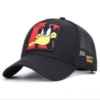 패션 만화 애니메이션 야구 네트 모자 여름 야외 야구 모자 여행 거리 그늘 모자 모자 자수 인쇄 모자