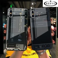 Servo de vidro tampa traseira completa phone case para iphone 6 7 plus desmontar série case iphone x xs xr x max samsung s9 plus