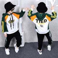 Nuevos niños chándal Niños juego de ropa de Hip-hop Traje dnace de vestuario deportivo para niñas adolescentes sudaderas Haren pantalones trajes para 3 a 14 años