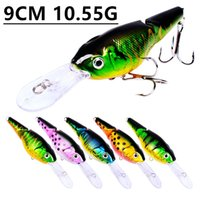 Mixed 5 Color 9cm 10. 55g Crank Fishing Hooks Fishhooks 6# Ho...
