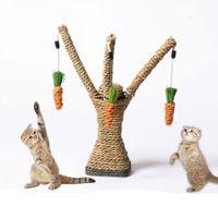 Кошка для скалолазания Башня Дерево Веревка из сизаля Кошка Кошка для царапин Стол для скребков Морковь Игрушка Захватите кошачью полку для колонн Прыжки на платформе