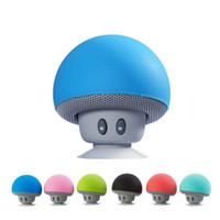 100x wholesell Karikatür Mantar Kablosuz Bluetooth Hoparlör Su geçirmez Sucker Mini Bluetooth Hoparlör Ses DHL ile Açık Taşınabilir Parantez