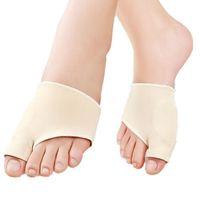 2PCS جل سيليكون تو الورم لتخفيف الآلام تنعيم فواصل محاذاة الوسادة العلاج القدم تداخل الكبير أصابع تصحيح