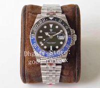 바젤 월드 Men 's Ceramic Bezel GM Factory Automatic Cal.3186 Watch men 904L Steel Jubilee Bracelet Gmt II Pepsi 126710 Batman Eta Watches