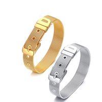 Argent Or Couleur Mode Simple Hommes Maille Bracelet En Acier Inoxydable Blet Bracelet Bracelet de Montre Bijoux Cadeau pour Hommes Garçons J265