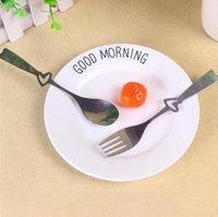 الفولاذ المقاوم للصدأ أدوات المائدة عشاء مجموعة القلب ملعقة وشوكة حفل زفاف لصالح أدوات هدية تذكارية للمطبخ الزوار LXL914Q