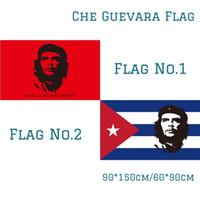 Freies Verschiffen auf Lager 3x5ft 90x150cm Polyester Kuba-Flagge Kuba Revolution Held EI CHE Ernesto Guevara Flagge HASTA LA VICTORIA SIEMPER!