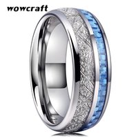 8mm Tungsten Carbide Ring for Men Women Wedding Band Light B...