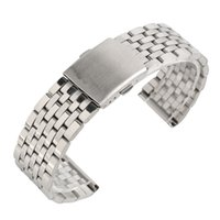 heap Watchbands 18 20 22mm Silver Hollow Stainless Steel Wat...