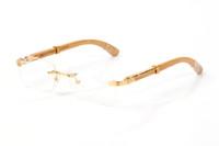Herren-Brille klar Rahmen Metall Gold Holzrahmen Brillen optische neue Art und Weise Sport-Sonnenbrille für Frauen arbeiten Brillenfassungen gafas