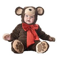 مولود جديد عيد هالوين تأثيري حلي الطاووس الدببة القطبية الفهود القرود بذلة الفتيان الفتيات الملابس مجموعة أطفال وتتسابق