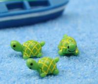 simpatici animali di tartaruga verde artificiale fata giardino miniature gnomi muschio terrari resina artigianato figurine per la decorazione del giardino