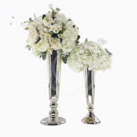 웨딩 간단한 스타일 꽃 금속 실버 꽃병 웨딩 장식 이벤트 파티 장식 senyu0326 스탠드