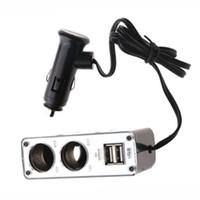 Adaptador del cargador del divisor del zócalo del poder del encendedor de cigarrillos del coche de 2 puertos USB