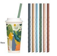 22 centímetros espiral de silicone colorido das palhas Para Cups Food Grade Silicone Direto Spiral palhas Para Bar chá decoração leite Início Palhas Bebendo FFA4170