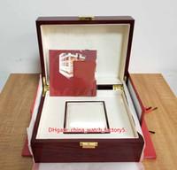 Venta caliente de alta calidad PP 5712 5711 Ver Reloj Papeles de caja original Tarjeta Cajas de madera roja Bolso para Aquanaut 5165 5167 5726 5980 Relojes