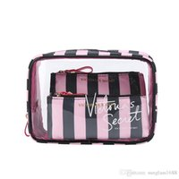 Pink Brand 3 in 1 Cosmetic Bag Multifunctional large Capacit...