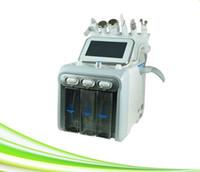 6 판매 1 개 스파 살롱 산소 요법 얼굴 피부 강화 스크러버 초음파 피부 스크러버 기계