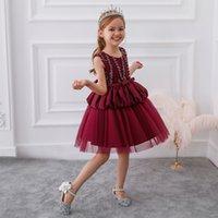 Yeni Sıcak Stil Kek Elbise Avrupa ve Amerika Çocuklar Prenses Elbise Host Gelinlik Çiçek Kızların Elbiseleri Kaliteli Düşük Fiyat