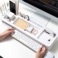 جديد وصول 2020 مكتب تخزين رف مكتب الجدول الجدول حامل سطح المكتب المنظم الكمبيوتر للمنزل # X2 دروبشيبينغ