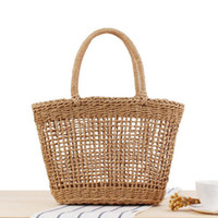 2019 High Quality Summer Beach Bag Big Straw Bag Handmade Wo...