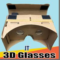 JT DHL Óculos 3D VR Óculos DIY Google Papelão Celular Realidade Virtual Realidade Unofficial Papelão VR Toolkit Óculos 3D CCA1785 B-XY
