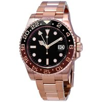 15 colors GMT Rose Gold Stainless Steel watches 40m date men...