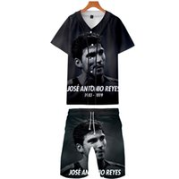 Mens Tracksuits Reyes RIP Sommer-Fußballstar 3D Printed Tops Shorts 2pcs Kleidung Sets Mode Anzüge