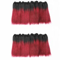 Extensions de cheveux humains de couleur T1B / Bug Straight Bundles de cheveux indiens brésiliens 100% vierge brésilienne 6 pouces