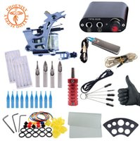Beginner Tattoo Kit Tattoo Machine Set Black Power Supply Ne...