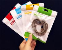 Sacchetto del opp cerniera sacchetto di plastica di vendita al dettaglio buco di appendere poli imballaggio per cavo usb poli sacchetto dell'imballaggio del opp per cavo USB Custodia per cellulare