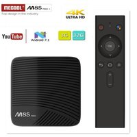 MECOOL M8S PRO L TV BOX Android 7.1 Amlogic S912 3GB 16GB 32G Bluetooth Set-Top Box Controllo vocale 3D 4K HD Smart Media Player