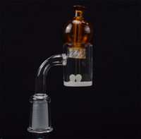 4mm Bottom 25mmOD Quartz Banger With Cyclone Carb Cap and Te...