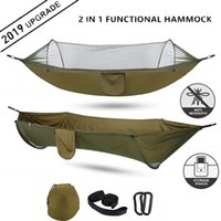 2020 Camping hamac avec moustiquaire pop-up Light Portable Outdoor Hamacs parachute Balançoire Sleeping Hamac Camping Stuff