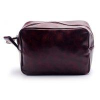 PU sac cosmétique gros Blanks main rasage hommes sac en cuir Voyage cas Dopp Kit cadeau pour lui DOM106137