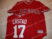 Cheap Custom Anaheim DARIN ERSTAD Baseball jerseys Red Stitc...
