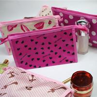 Розовый Sugao дизайнер косметички женщин клатчи большой емкости мешок косметический мешок водонепроницаемый сатин чемоданчик для хранения промывной оптовых продаж