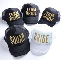 BRÄUTIGAM-Hysteresenhüte für Frauen-Braut-Fernlastfahrer-Hut-Neonmannschafts-Braut-Ineinander greifen-Fernlastfahrer-Hut-Kappe Junggeselinnen-Abschiedshochzeits-Hysteresengröße 52cm - 56 cm