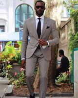 Brandneue Slim Fit Herren Hochzeit Smoking Beliebte Bräutigam Groomsmene Smoking Man Blazer Jacke Hervorragende 2 Stück Anzüge (Jacke + Pants + Krawatte) 4