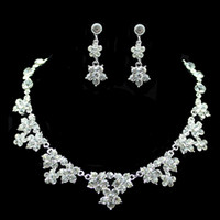Wedding Jewelry Sets Engagement Bridal Rhinestone Earring an...