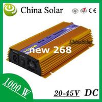 Freeshipping Gold Farbe 1KW Micro On Grid Rein Sinus Solar Wechselrichter 20-45 V 230 V für Solarenergiesystem