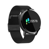 Q8 Fashion Smart Watch Men Women Blood Pressure Heart Rate M...